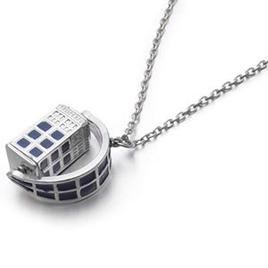 Jewelry - Doctor Who Tardis 3D Police Box Necklace NWT